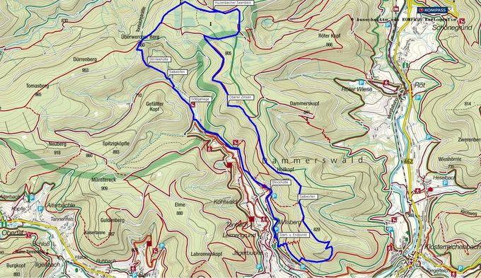 Holzmachertour: Wandern in Baiersbronn im Nordschwarzwald. Kostenlose Kompass-Wanderkarte als PDF