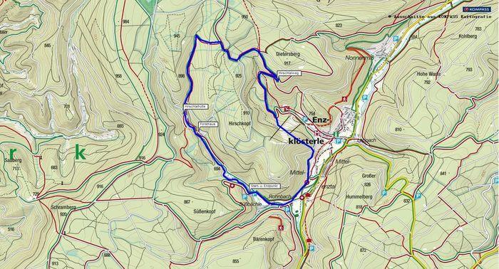 Wanderung durch das Rohnbachtal bei Enzklösterle