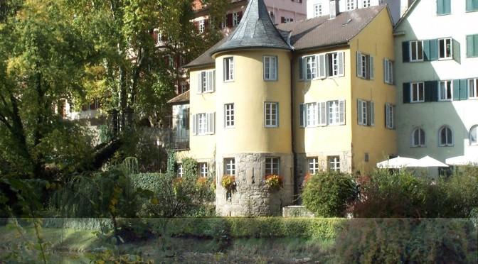 Der Hölderlinturm in Tübingen. Die Geschichte der Deutschen in Wanderungen erleben: geschichte-zu-fuss.de - ©Hans-Walter Spille/pixelio.de
