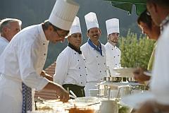 Baiersbronner Köche beim Outdoorbuffet