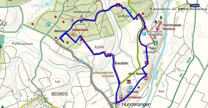 Rundwanderung Heuneburg, Oberschwaben