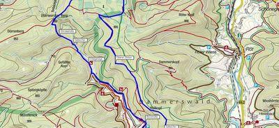 Auf der Holzmachertour hinauf zum Huzenbacher Seenblick. 17 Kilometer Wanderung