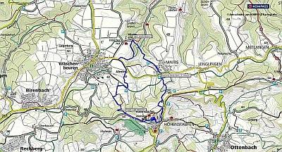 Wanderung von der Wäscherburg auf den Hohenstaufen