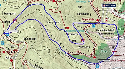Wanderung von Diedesfeld zum Hambacher Schloss