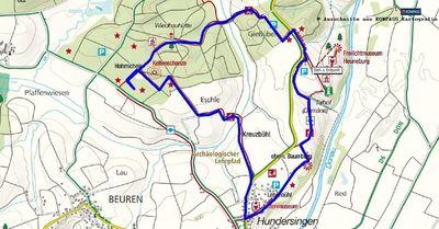 Wanderung in Oberschwaben: Heuneburg