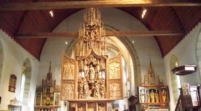 Riemenschneider Altar in der Herrgottskirche, Creglingen - veröffentlicht auf GESCHICHTE ZU FUSS in einem Beitrag über das Leben von Tilmann Riemenschneider