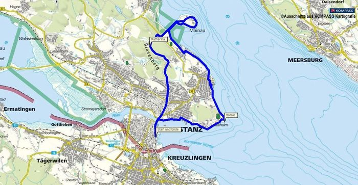 Wandern Konstanz zur Insel Mainau