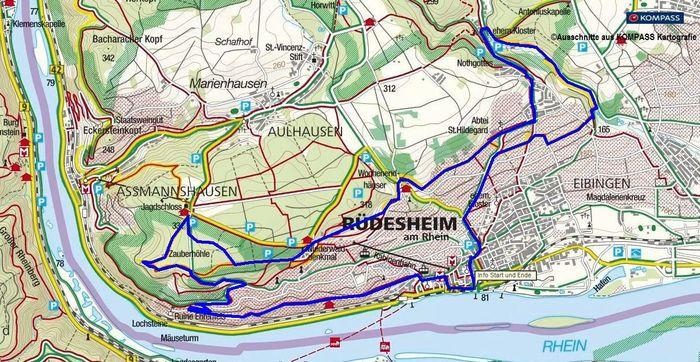 Wanderung Ruedesheim zum Niederwalddenkmal