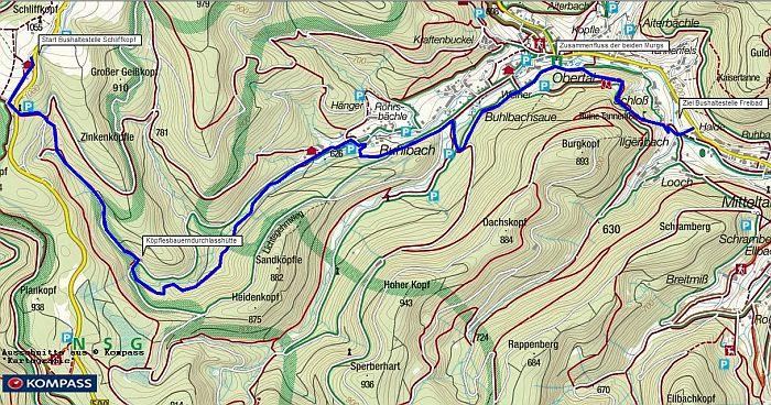 Wanderung vom Schliffkopf nach Baiersbronn Mitteltal