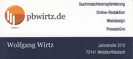 Internetagentrur Wolfgang Wirtz - Webdesign und Suchmaschinenoptimierung