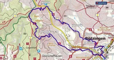 Wanderung auf dem Weinpfad in Bötzingen, Kaiserstuhl