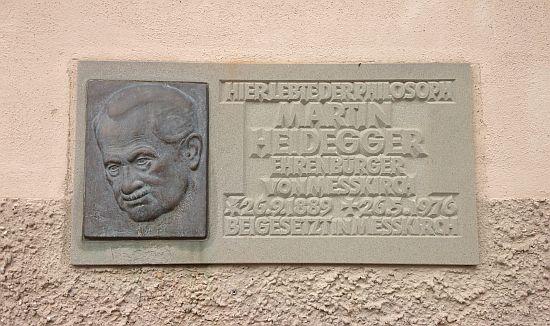 Wandern in Messkirch - Heidegger Gedenktafel