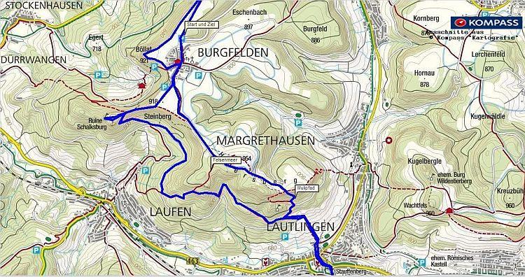 Traufgang Wanderung auf der Schwäbischen Alb nach Lautlingen