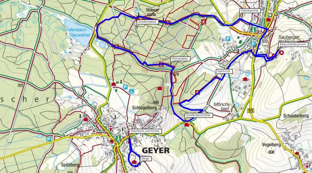 Wanderung Geyer Erzgebirge Bergbaulehrpfad Geyer