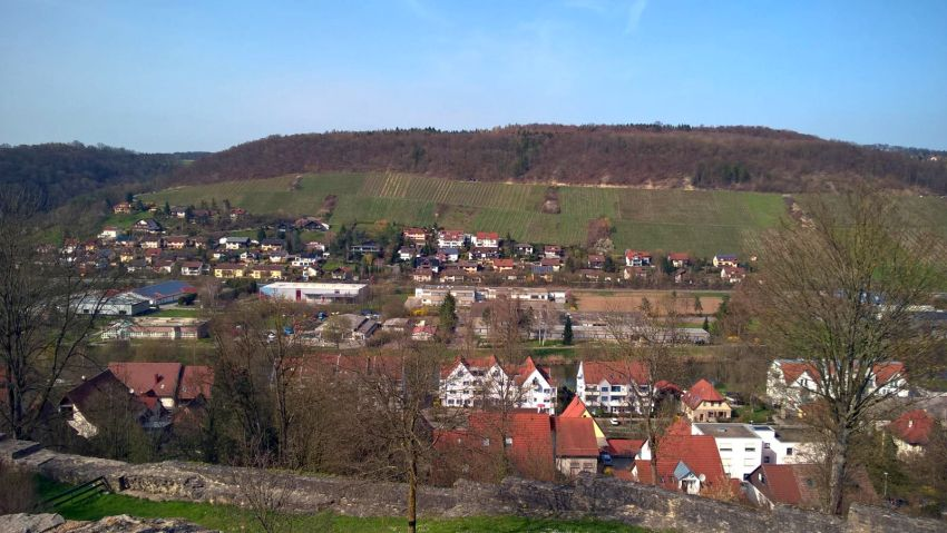 Blick auf Forchtenberg und das Kochertal