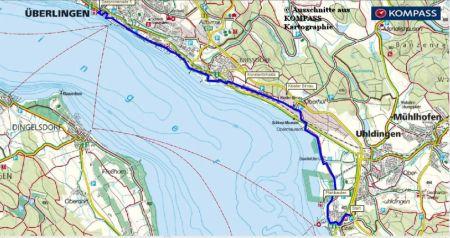 Wanderkarte Bodensee Ueberlingen Unteruhldingen-450