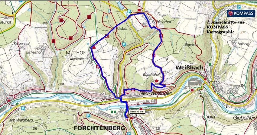 Wanderung im Kochtal bei Forchtenberg - Bauernlehrpfad