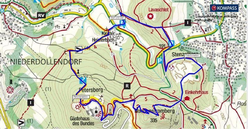 Wandern Siebengebirge Kloster Heisterbach Petersberg