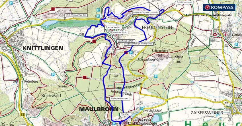 Wanderung Kloster Maulbronn - Freudenstein