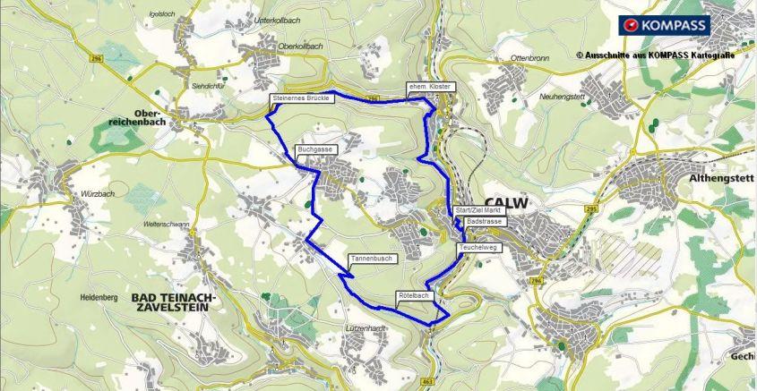 Wandern und Wanderung auf den Spuren von Hermann Hesse von Calw nach Hirsau