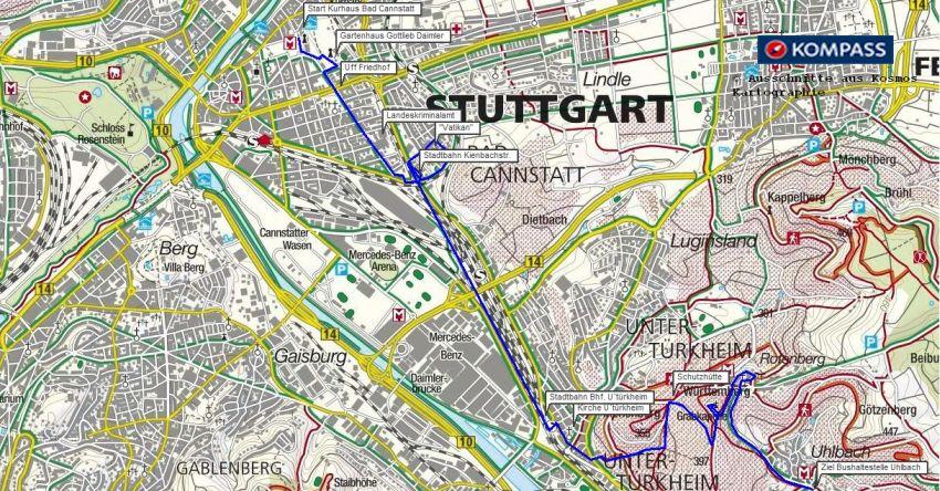 Wanderung in Stuttgart - zur Grabkapelle auf dem Württemberg