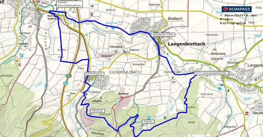 Mörike Wanderung Rundwanderweg Cleversulzbach
