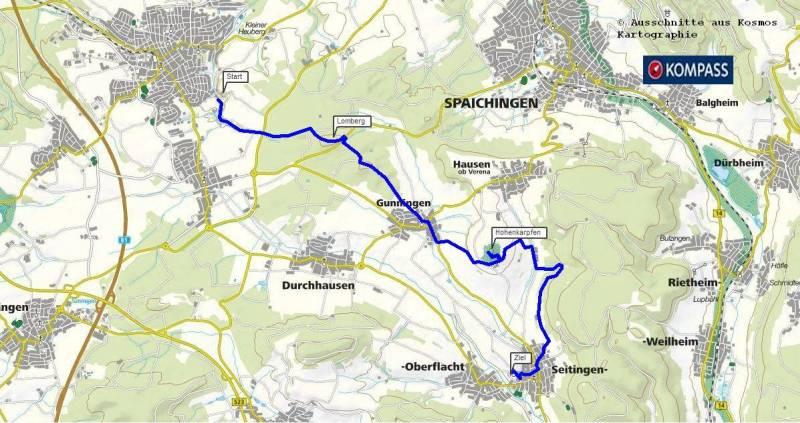 Wanderung Trossingen Seitingen