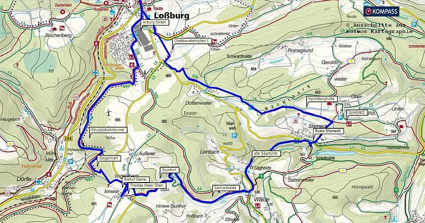 Rundwanderung Lossburg im Schwarzwald