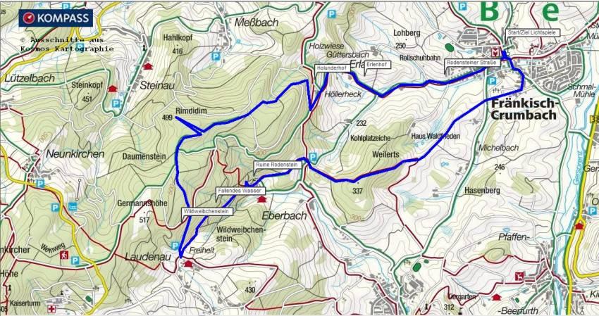Wanderung Fränkisch Crumbach zur Ruine Rodenstein